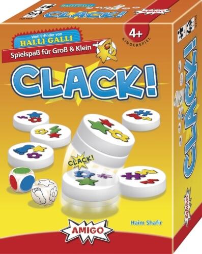 AMIGO 02765 Clack!, Kinderspiel, für 2-6 Spieler, Spieldauer: ca. 10 Min, ab 4 Jahren