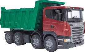 Bruder 03550 Scania R-Serie Kipp-LKW, ab 3 Jahren, Maße: 54,1 x 18,5 x 24,4 cm, Kunststoff & Plastik