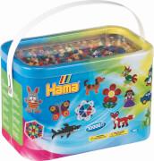 HAMA Bügelperlen Midi - Perleneimer Vollton Mix 10000 Perlen (22 Farben)