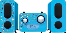 Stereoanlage CD/Radio blau inkl.Aufkleber